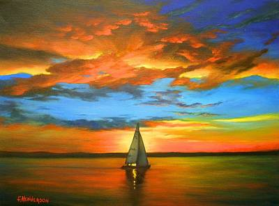 Painting - Peaceful Sailing by Francine Henderson