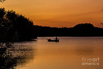 Photograph - Peaceful Solitude Fishing The Everglades by Rene Triay Photography