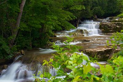Art Print featuring the photograph Peaceful Stockbridge Falls  by Dave Files