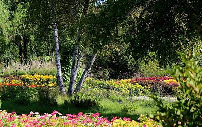 Peaceful Summer Garden Original by Rosanne Jordan