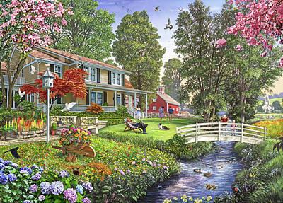 Dovecote Painting - Peaceful Sunday Usa by Steve Crisp