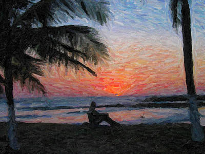 Peaceful Sunset Art Print by David Gleeson