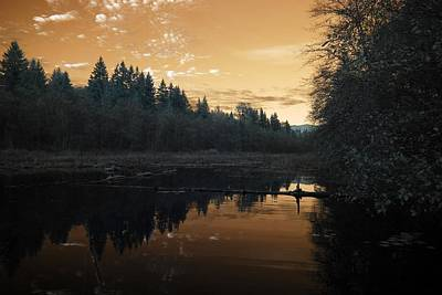 Art Print featuring the photograph Peaceful Sunset by Rebecca Parker