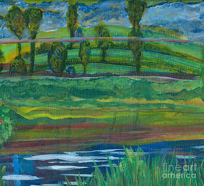 Painting - Peaceful Trees by Denise Hoag