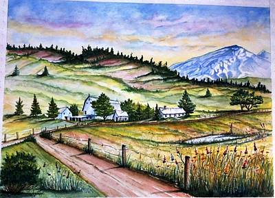 Peaceful Valley Farm Art Print
