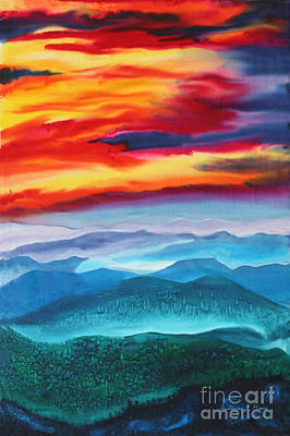 Smokey Mountains Painting - Peaceful Valley's by Anderson R Moore