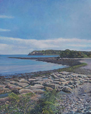 Painting - Peaceful View From Peaks Island Me by David P Zippi