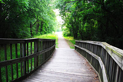 Photograph - Peaceful Walkway by Stephanie Grooms