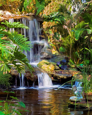 Photograph - Peaceful Lagoon Waterfall by Ginger Wakem