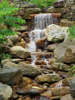 Photograph - Peaceful Waterfall by Kathy Long