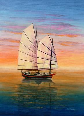 Painting - Peaceful Waters by J W Kelly