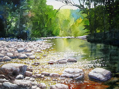 Yosemite Painting - Peaceful Waters by Shirley Braithwaite Hunt