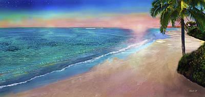Peacefulness Of Sundown Art Print by David M ( Maclean )