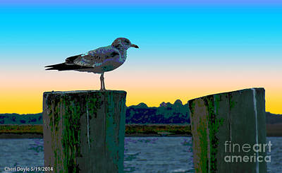 Digital Art - Peaceinthebay by Cheri Doyle