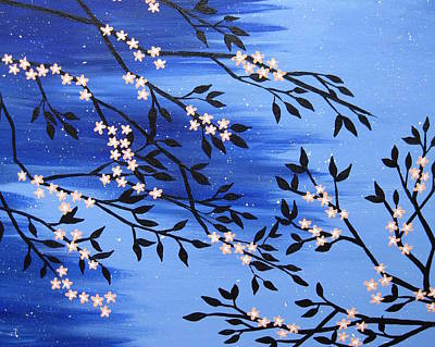 Oriental Style Painting - Peach Blossom by Cathy Jacobs