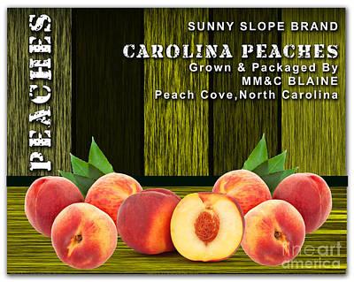Peach Farm Art Print by Marvin Blaine