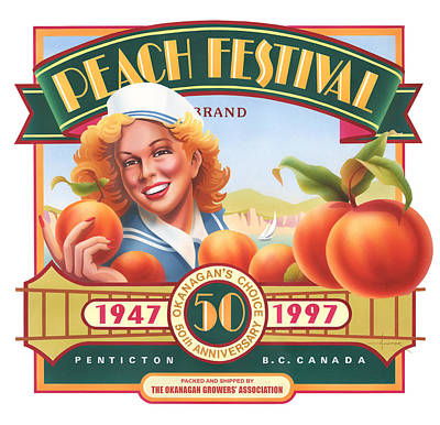 Painting - Peach Festival by Larry Hunter