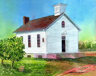 Painting - Peach Grove School by LeAnne Sowa