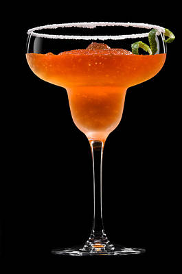 Photograph - Peach Margarita Cocktail by U Schade