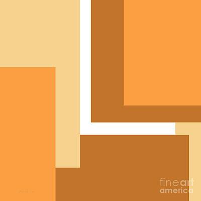 Minimalist Digital Art - Peach Pie Square by Andee Design