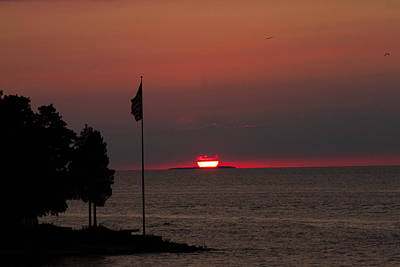 Photograph - Peach Point Sunset by Haren Images- Kriss Haren