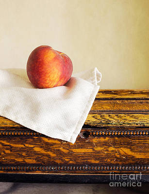 Peach Still Life Art Print by Edward Fielding