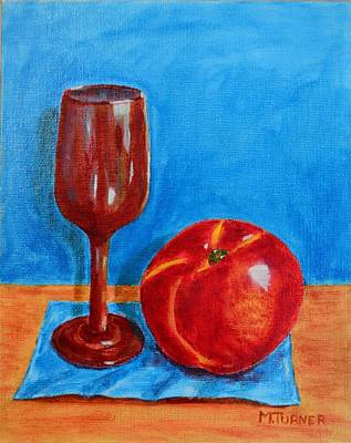 Art Print featuring the painting Peach Wine by Melvin Turner
