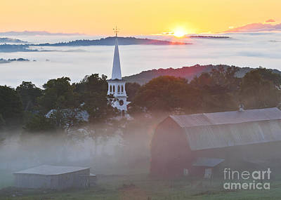 Peacham Vermont Sunrise Art Print by Alan L Graham