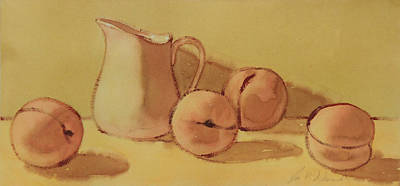 Painting - Peaches And Cream by Joe Schneider