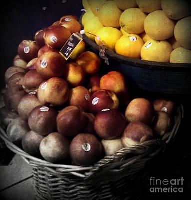 Peaches And Lemons Antique Print by Miriam Danar