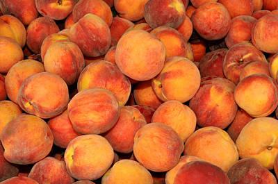 Peaches Art Print by Diane Lent