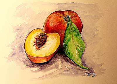 Painting - Peaches by Henry Blackmon