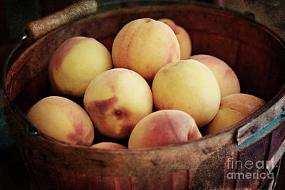 Photograph - Peaches In A Basket by Pam  Holdsworth