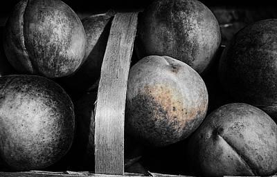 Peaches In A Basket Art Print by William Jones