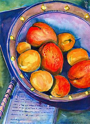 Stil Life Painting - Peaches by Ion vincent DAnu