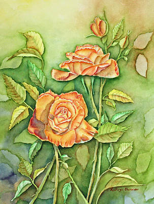 Autumn Roses Art Print by Kathryn Duncan