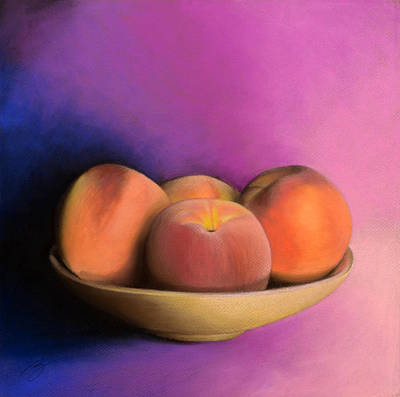 Pastel - Peaches - Pastel by Ben Kotyuk
