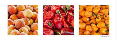 Photograph - Peaches Peppers Peppers - Landscape by Michael Flood