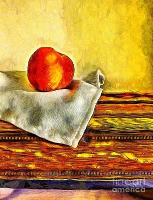 Peaches Still Life Van Gogh Art Print