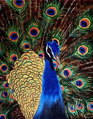 Spot Of Tea Royalty Free Images - Peacock Royalty-Free Image by Debbie LaFrance