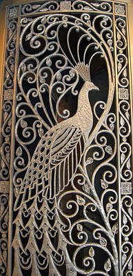 Photograph - Peacock Door - The Palmer House In Chicago by Suzanne Gaff