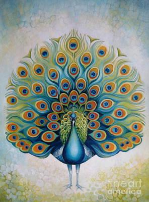 Peacock Art Print by Elena Oleniuc