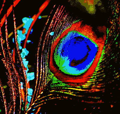 Peacock Feather Abstract Art Print