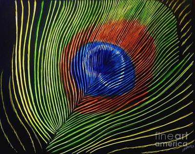 Peacock Feather Print by Jennifer Jeffris