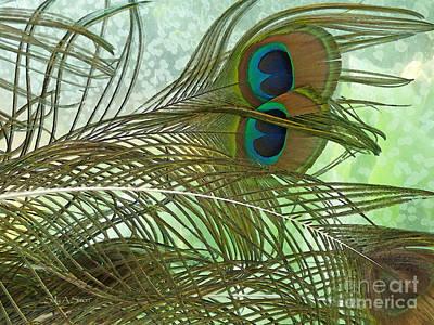 Photograph - Peacock Feathers by Sally Simon