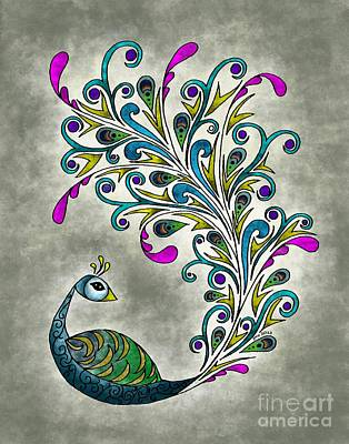 Pheasant Mixed Media - Peacock by Glenna Smiesko