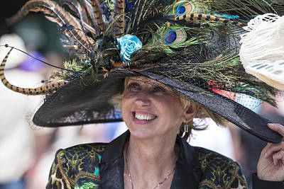Photograph - Peacock Hat At 2014 Kentucky Derby  by John McGraw