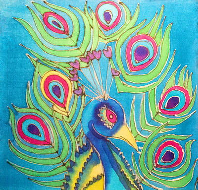 Painting - Peacock Hues by Kelly  ZumBerge