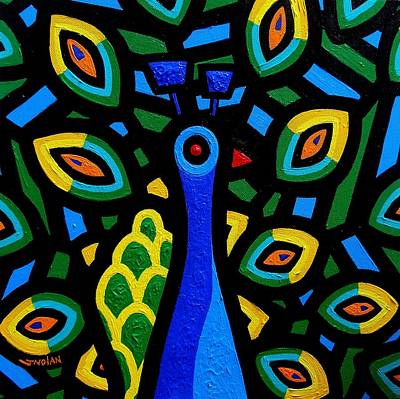 Peacock IIi Original by John  Nolan