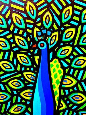Peacock Iv Art Print by John  Nolan